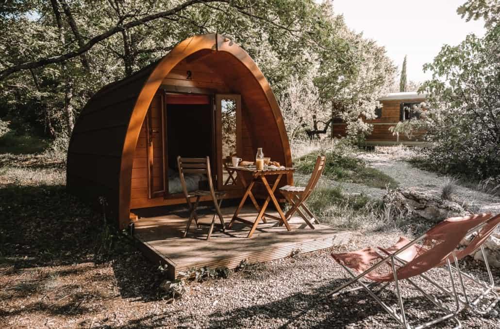 Les Pods en bois Les Roulottes et Cabanes de Saint Cerice