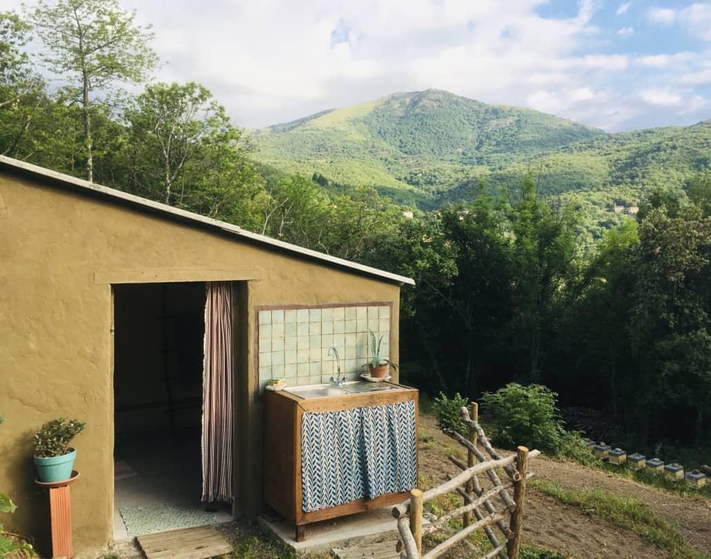 Sanitaire et coin vaisselle - Jardins de l'Hérault (30)