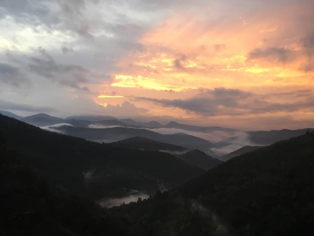 Levée du soleil vallée de l'Arboux