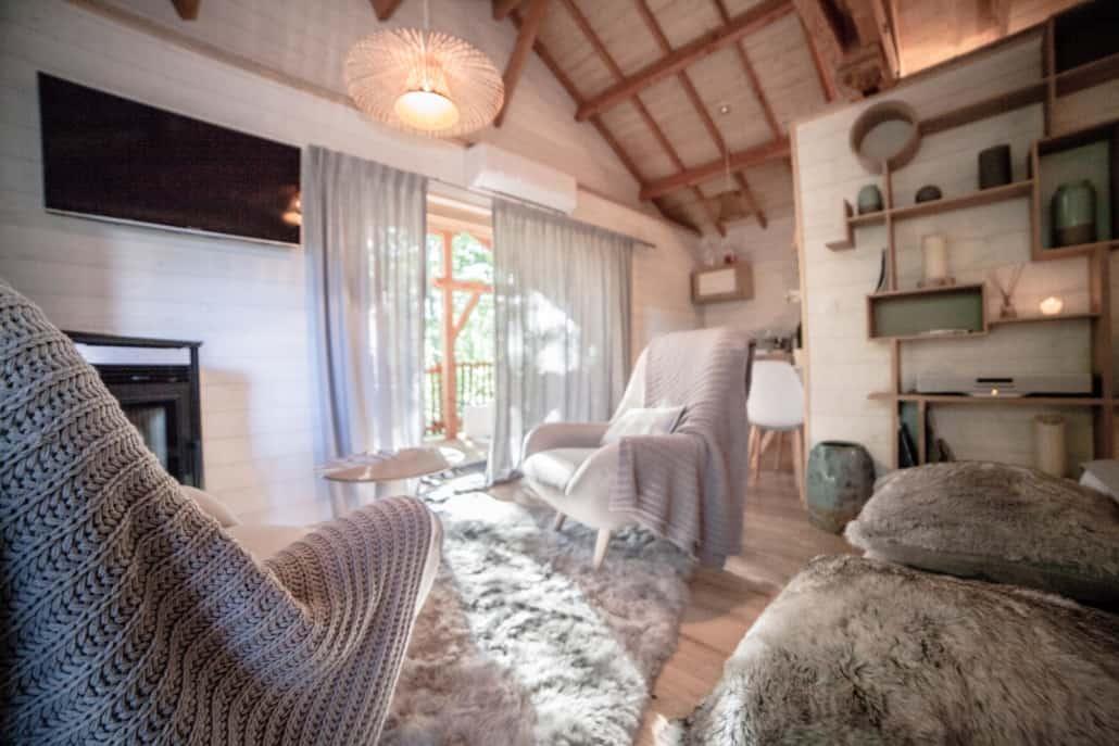 Coin salon Lodge de Luxe D'Emilion de Sens (33)