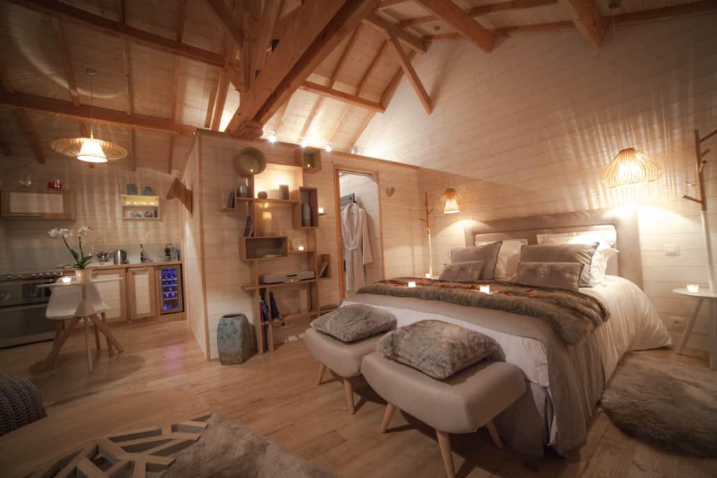 Intérieur cabane Natura Lodge D'Emilion de Sens