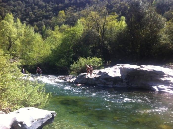 Rivière l'Hérault aux Jardins de l'Hermite